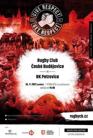 Zápas RC ČB - RK Petrovice pozvánka